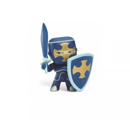 DARK BLUE cavaliere ARTY TOYS action figure DJECO in resina DJ06746 età 4+