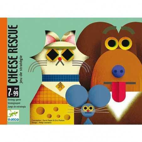 CHEESE RESCUE gioco di carte DJECO strategico DJECO animali e formaggio DJ05149 età 7+