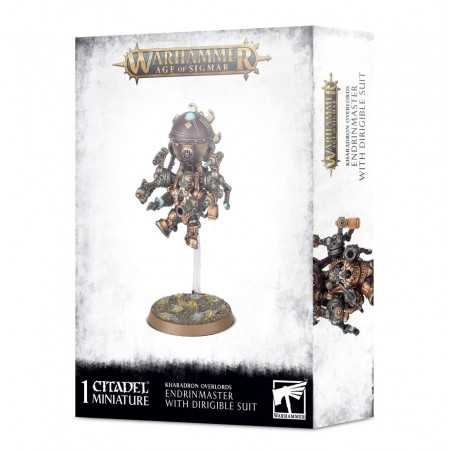 ENDRINMASTER WITH DIRIGIBLE SUIT miniatura KHARADRON OVERLORDS games workshop WARHAMMER età 12+