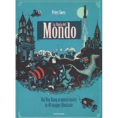 STORIA DEL MONDO libro PETER GOES mondadori editore ILLUSTRATO 2016