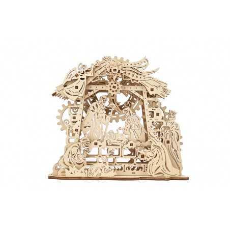 PRESEPE nativity scene UGEARS in legno DA MONTARE modellismo 59 PEZZI età 14+