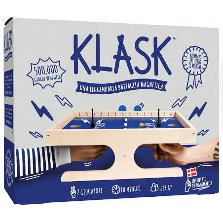 KLASK gioco di abilità magnetica UNO CONTRO UNO campo da gioco DINAMICO età 8+