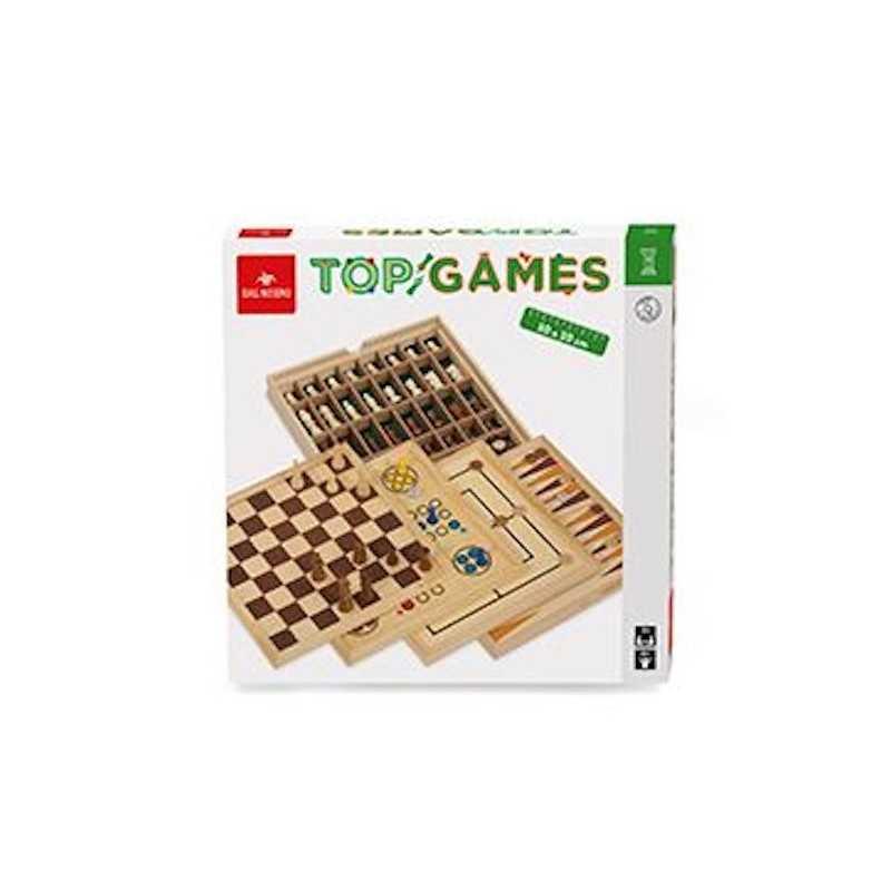 Top Games 30 Giochi Riuniti Dal Negro Scacchi Dama Tria Ludo Backgammon 5 Classici Eta 8