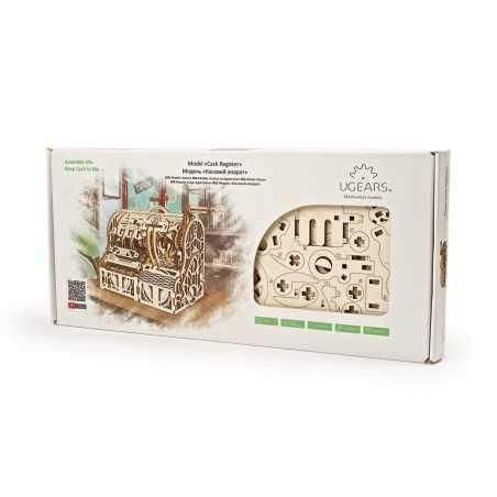 REGISTRATORE DI CASSA cash register UGEARS in legno PUZZLE 3D funzionante 405 PEZZI età 14+