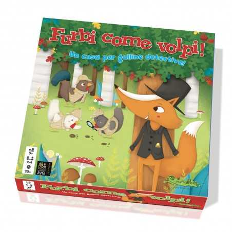 FURBI COME VOLPI gioco da tavolo GALLINE DETECTIVE in italiano COOPERATIVO uovo CREATIVAMENTE età 5+