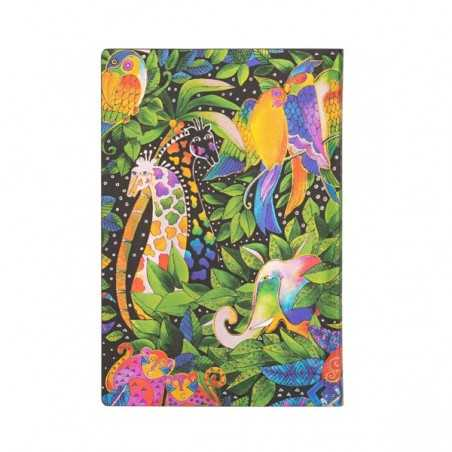 Diario a righe flexi JUNGLE SONG mini cm 10x14 - PAPERBLANKS 176 pagine taccuino flessibile notebook