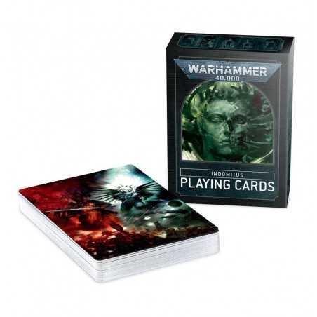 CARTE DA GIOCO INDOMITUS PLAYING CARDS Warhammer 40000 poker deck 52 cards