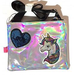 FLAT SHOULDER BAG borsetta...