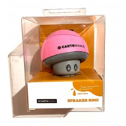 SPEAKER RING cassa bluetooth ROSA con cavo di ricarica WIRELESS cartomania SEVEN con ventosa 3 WATT SEVEN - 1