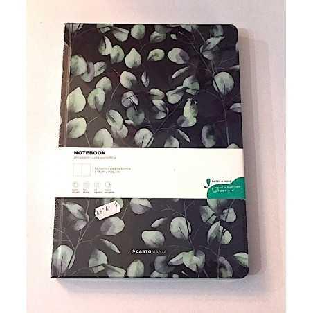 NOTEBOOK taccuino PAGINE BIANCHE cartonato CATOMANIA 19 x 26 cm FOGLIE