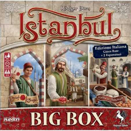 ISTANBUL gioco da tavolo BIG BOX + promo IN ITALIANO base + 2 espansioni RAVEN età 10+