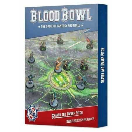SKAVEN AND DWARF PITCH double sided BLOOD BOWL games workshop IN INGLESE citadel TABELLONE età 12+