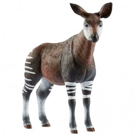 OKAPI animali in resina SCHLEICH miniature 14830 Wild Life AFRICA età 3+