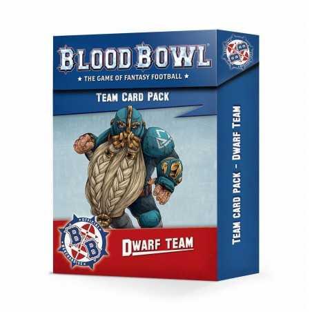 CARD PACK blood bowl DWARF TEAM citadel CARTE games workshop IN INGLESE età 12+
