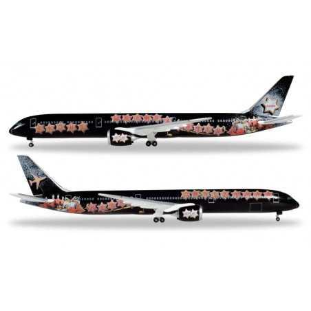 BOEING 787-10 DREAMLINER CHRISTMAS 2018 EDITION aereo in metallo HERPA WINGS 531740 modellino SCALA 1:500