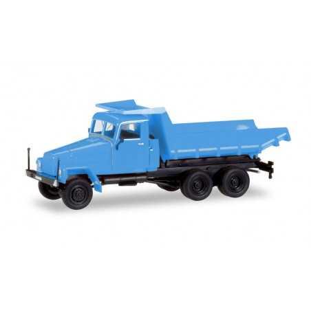 IFA G 5 KIPPER AZZURRO camion in plastica HERPA 307581 modellino SCALA 1:87 trucks