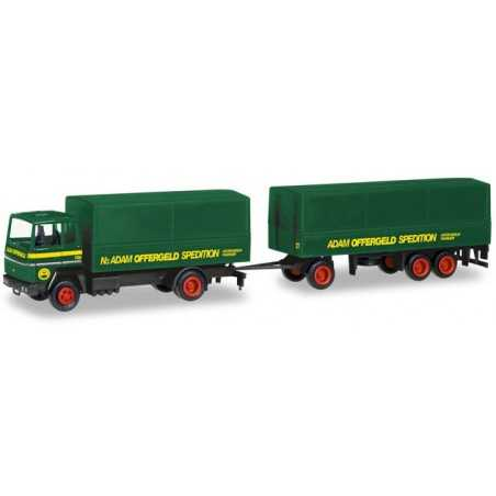 FORD TRANSCONTI OFFERGELD CON RIMORCHIO camion in plastica HERPA 309820 modellino SCALA 1:87 trucks