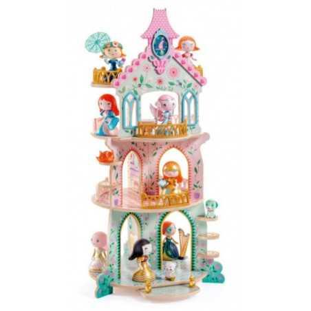 ZE PRINCESS TOWER castello principesse DJECO in legno ARTY TOYS personaggi DJ06787 età 4+