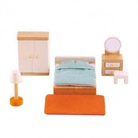 CAMERA MATRIMONIALE in legno accessorio per casa delle bambole HAPE