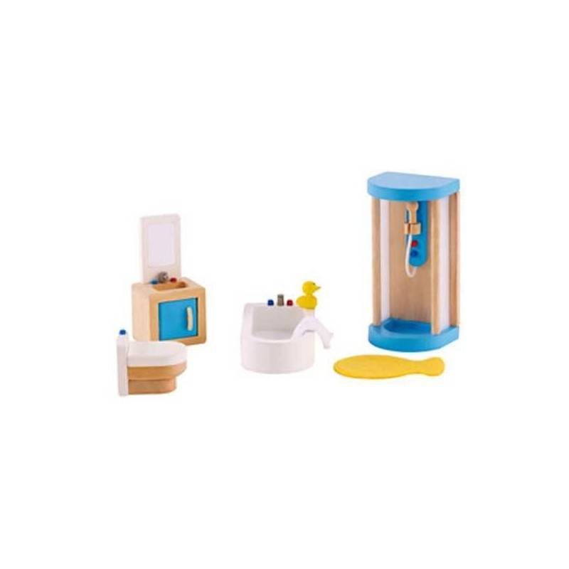 BAGNO DI FAMIGLIA in legno accessorio per casa delle bambole HAPE Happy Family