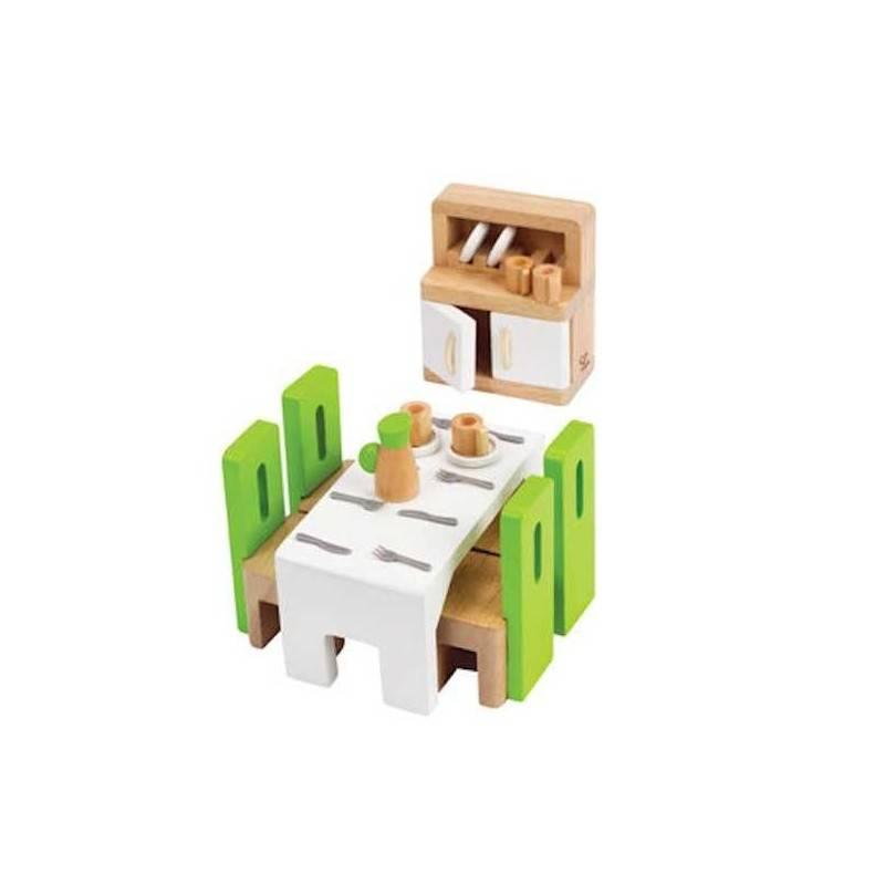SALA DA PRANZO in legno accessorio per casa delle bambole HAPE Happy Family