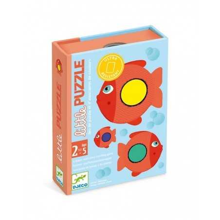 LITTLE PUZZLE gioco di carte ASSOCIAZIONE djeco DJ05060 colori PESCI età 30 mesi +