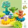 WOODYTWIST gioco DJECO in legno INGRANAGGI animali e alberi DJ06416 età 18 mesi +