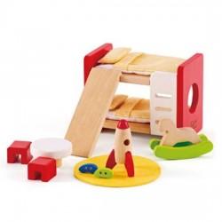 CAMERETTA DEI BAMBINI in legno accessorio casa delle bambole HAPE Happy Family