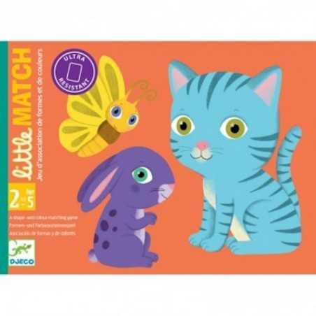 LITTLE MATCH gioco di carte ASSOCIAZIONE djeco DJ05061 colori ANIMALI età 30 mesi +