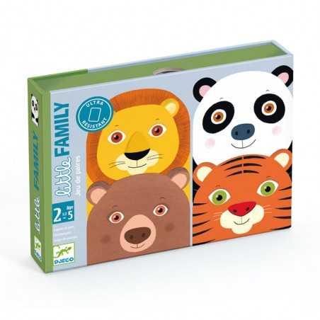 LITTLE FAMILY gioco di carte COPPIE djeco DJ05062 scambi ANIMALI età 30 mesi +