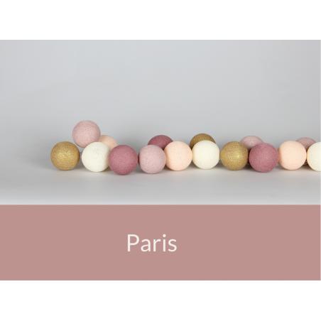 LUCI HAPPY LIGHTS PARIS fila 20 palline colorate in corda con lampadine e spina