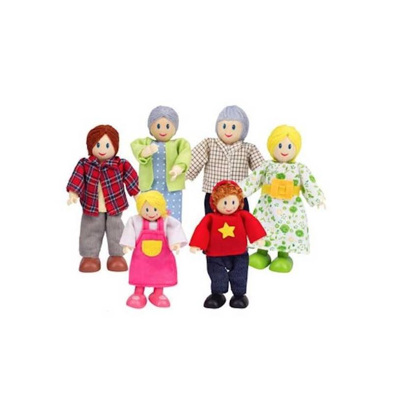 FAMIGLIA FELICE CAUCASICA in legno accessorio per casa delle bambole HAPE Happy Family