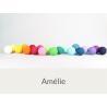 LUCI HAPPY LIGHTS AMELIE fila 20 palline colorate in corda con lampadine LED e spina