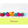 LUCI HAPPY LIGHTS NIASSAM fila 20 palline colorate in corda con lampadine LED spina