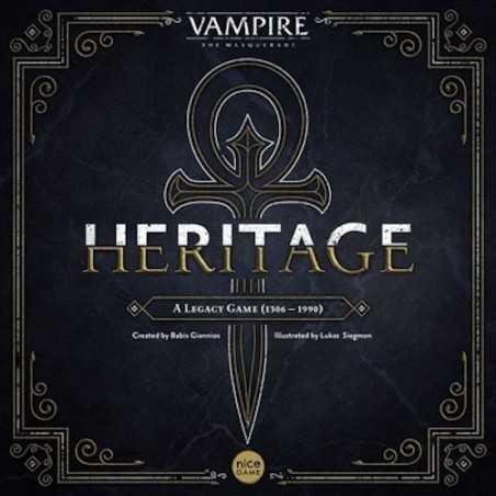 VAMPIRE the masquerade HERITAGE kickstarter SCATOLA NERA versione retail LEGACY gioco da tavolo IN ITALIANO età 14+
