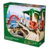 FERROVIA DOPPIO PERCORSO in legno treni BRIO 33512 trenino Travel Switching set