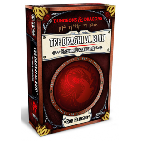 TRE DRAGHI AL BUIO edizione leggendaria IN ITALIANO dungeons & dragons ASMODEE età 14+