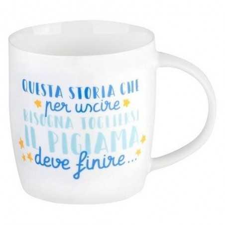 TAZZA mug USCIRE IN PIGIAMA porcellana 0.35L bone china LEGAMI