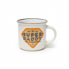 TAZZA mug SUPER DADDY you're my superhero CUP PUCCINO porcellana 0.35L bone china LEGAMI