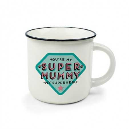 TAZZA mug SUPER MUMMY you're my superhero CUP PUCCINO porcellana 0.35L bone china LEGAMI