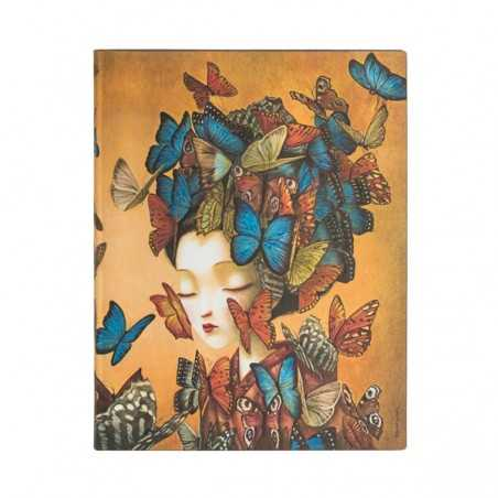 Diario a righe MADAME BUTTERFLY midi cm 12x17 Paperblanks FLEXI notebook taccuino