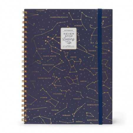 TACCUINO A4 SPIRALATO 3 in 1 STARS STELLE cm 29,5x22 maxi 204 pagine