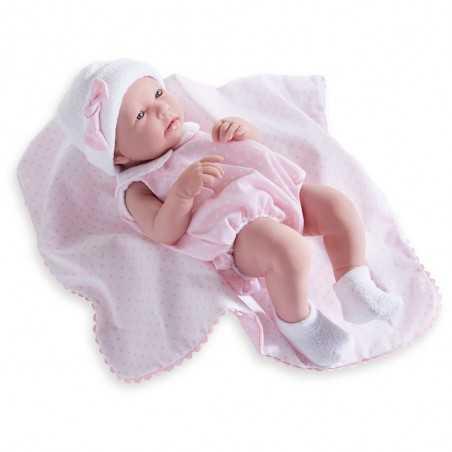 BEBE' femmina TUTINA ROSA neonato H 43 CM bimbo NEWBORN pupazzo BERENGUER boutique REALISTICO età 2+