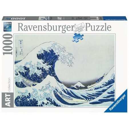 PUZZLE ravensburger THE GREAT WAVE OFF KAGANAWA HOKUSAI art collection 1000 PEZZI 70 x 50 cm