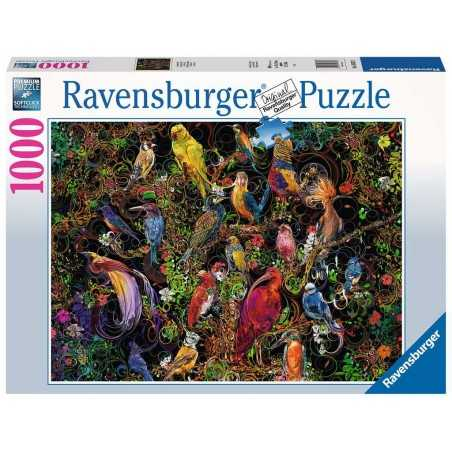 PUZZLE ravensburger UCCELLI D'ARTE birds of art 1000 PEZZI 70 x 50 cm