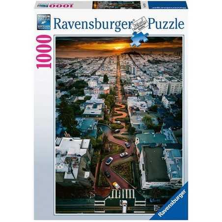 PUZZLE ravensburger LOMBARD STREET san francisco 1000 PEZZI 50 x 70 cm