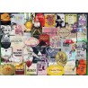 PUZZLE ravensburger ETICHETTE DI VINO wine labels 1000 PEZZI 70 x 50 cm