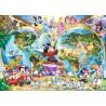 PUZZLE ravensburger MAPPAMONDO disney 1000 PEZZI 70 x 50 cm