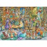 PUZZLE ravensburger MEZZANOTTE IN BIBLIOTECA library 1000 PEZZI 70 x 50 cm