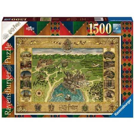PUZZLE ravensburger MAPPA DI HOGWARTS premium 1500 PEZZI 80 x 60 cm